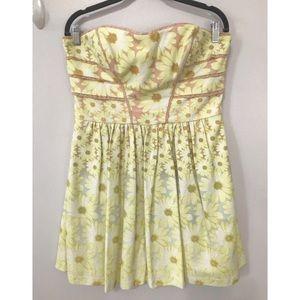 NWT JESSICA SIMPSON Floral Print Strapless Dress